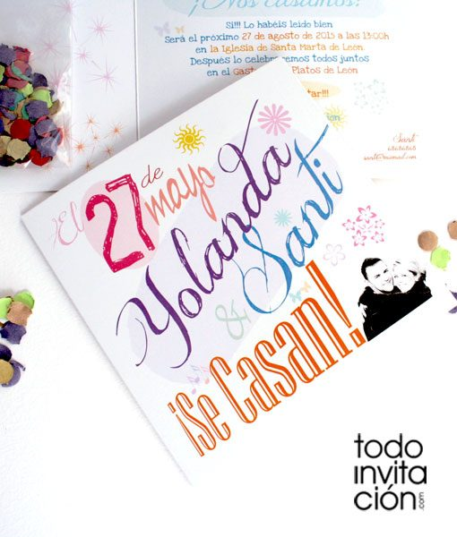 invitacion de boda party original