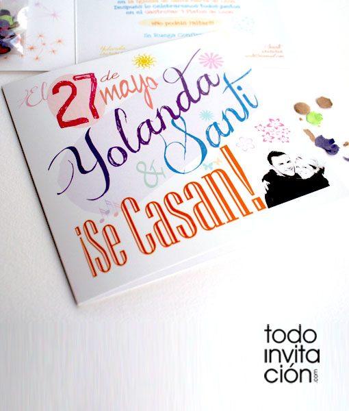 invitacion de boda party original