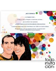 invitacion boda original pop art