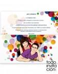 invitacion boda original pop art