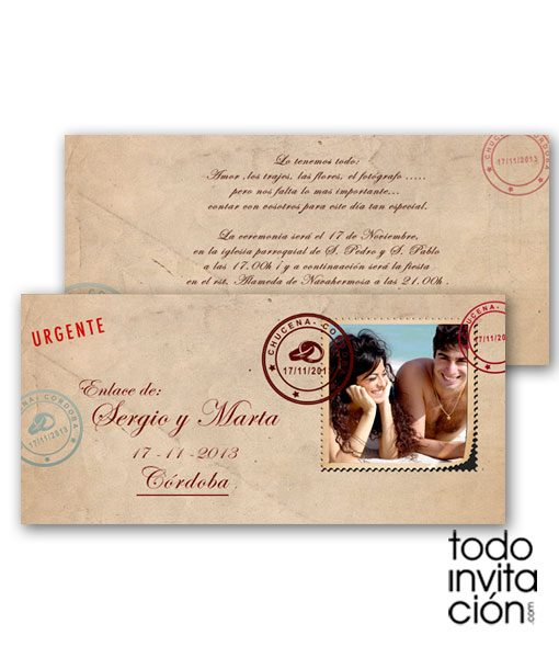 invitacion de boda post