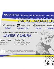 invitacion-billete avion tarjeta embarque
