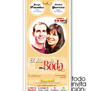 invitacion de boda cartel de cine