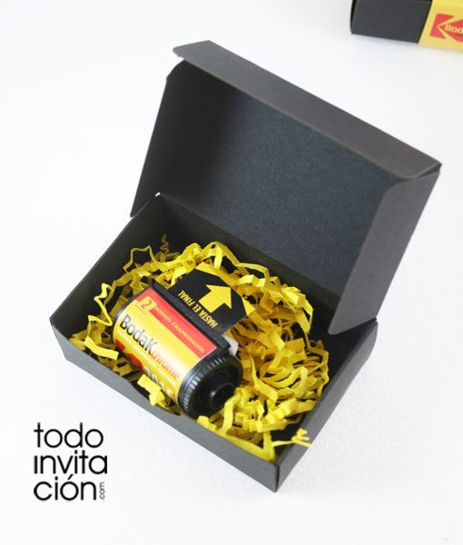 invitacion de boda carrete fotos bodak chrome