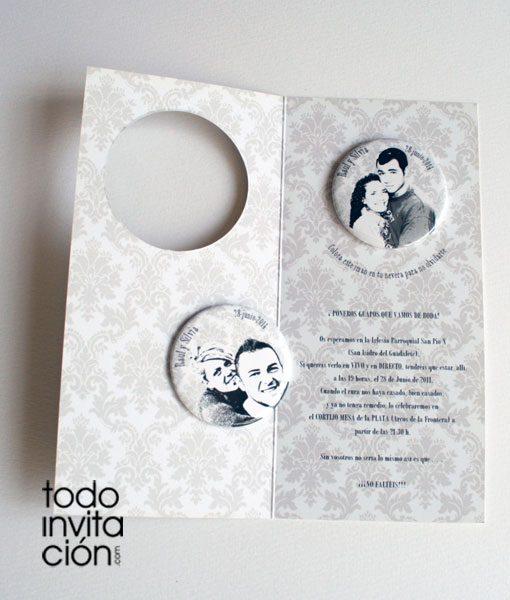 invitacion de boda con imán de nevera