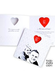 invitacion de boda corazón