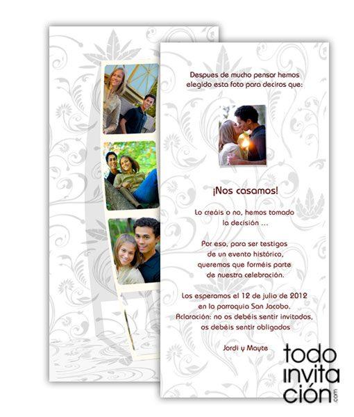 invitacion de boda fotomaton