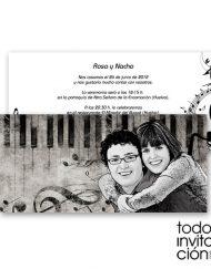 invitacion de boda music
