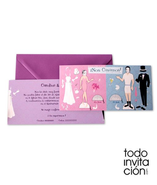 invitacion de boda recortable