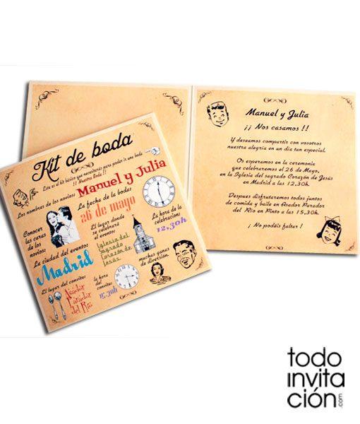 invitacion kit de boda