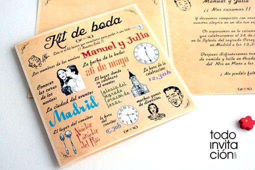 invitacion de boda kit