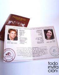invitacion de boda pasaporte
