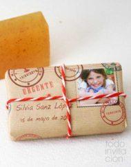 jabon artesanal detalles comunion postal