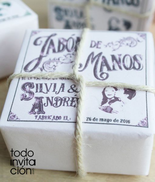 jabón vintage blanco para bodas