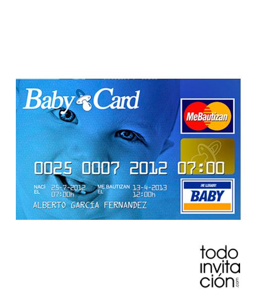 Invitación Baby Card