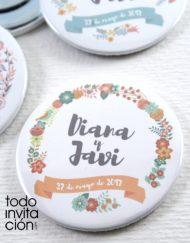 abridor flores de boda personalizado