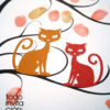 cuadro de huellas boda gatos