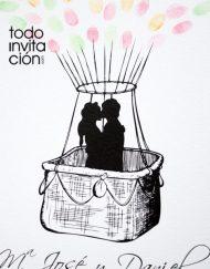 cuadro de huellas boda globo