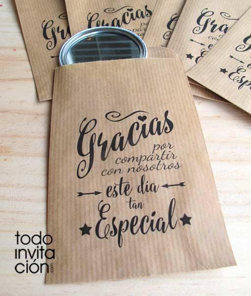 Bolsas kraft peque as gracias 5 bodas pack 20 und - Bolsas de regalo personalizadas ...