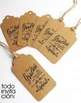 etiquetas kraft para detalles regalos invitados boda bautizo comunion