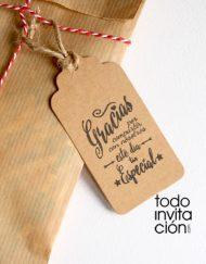 etiqueta kraft para detalles de boda bautizo