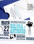 invitacion de boda original entrada de cine
