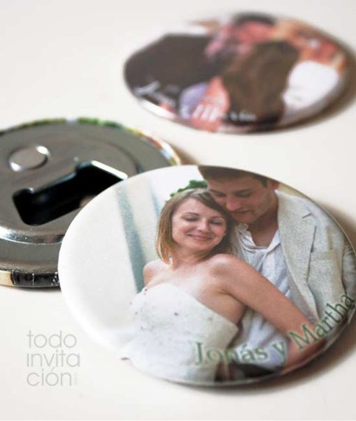 abridor personalizado foto boda