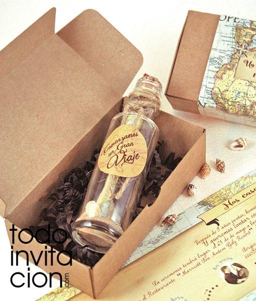 cion de boda original mensaje en botella MAPA