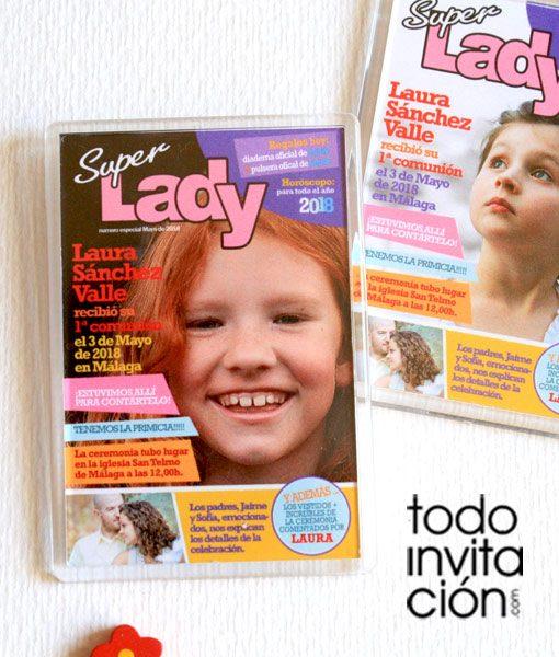 iman comunion recordatorio revista lady
