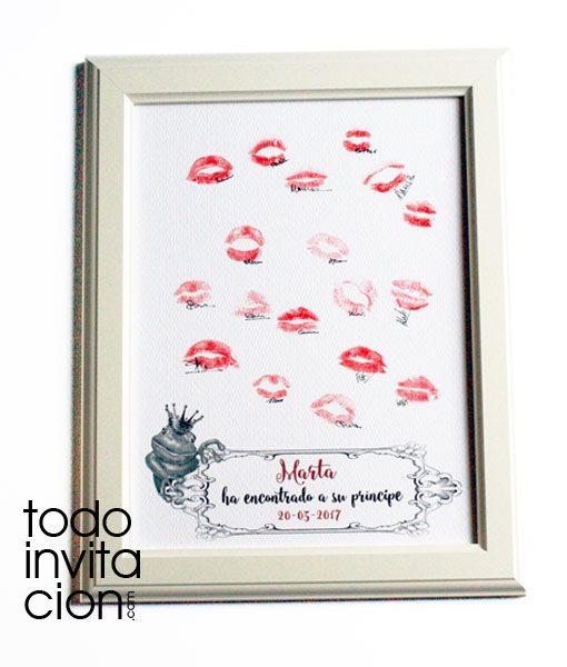 cuadro de besos huellas despedidas de soltera