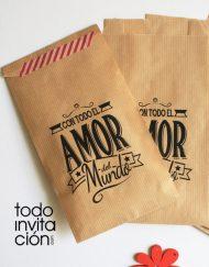 bolsa de kraft mensaje cualqueir evento boda comunion bautizo