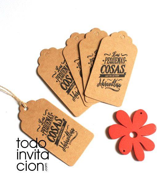 etiquetas karft para eventos detalles y regalos