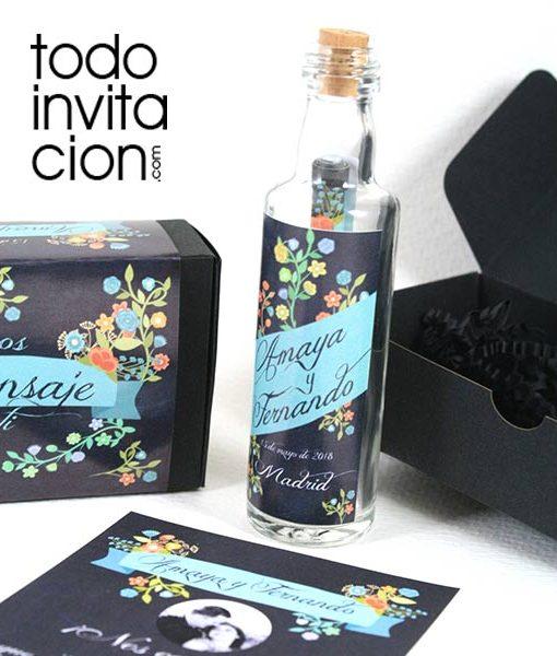 invitacion de boda original mensaje en botella