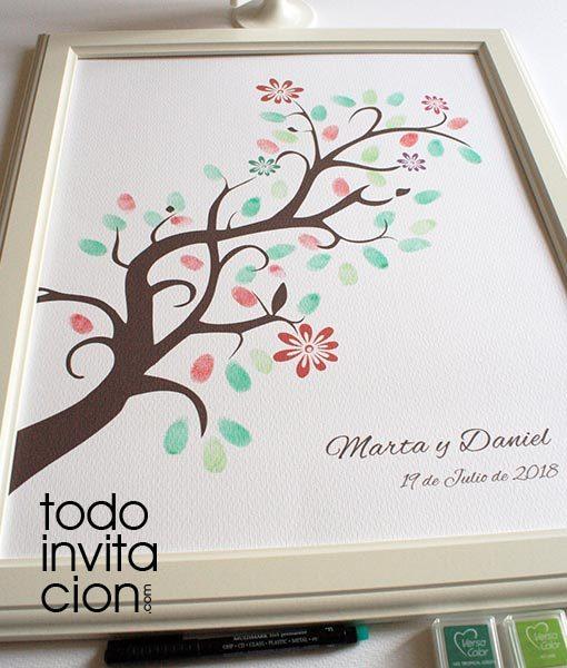 cuadro de huellas original para bodas