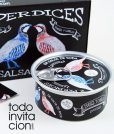 invitacion de boda lata perdices