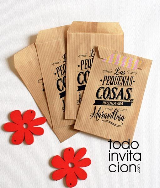 Bolsas kraft peque as las peque as cosas pack 20 und for Cosas especiales para regalar