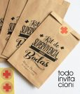 bolsas kraft kit de supervivencia boda