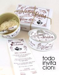 invitacion de boda lata vintage