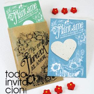 semillas para bodas - papel de semillas plantable