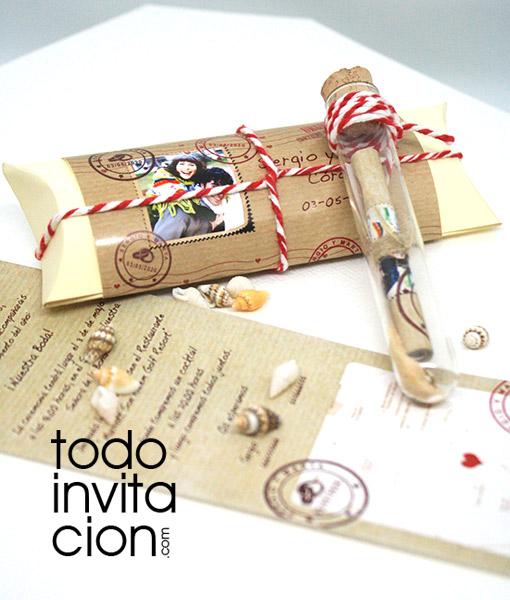 Invitación Mensaje En Tubo Post