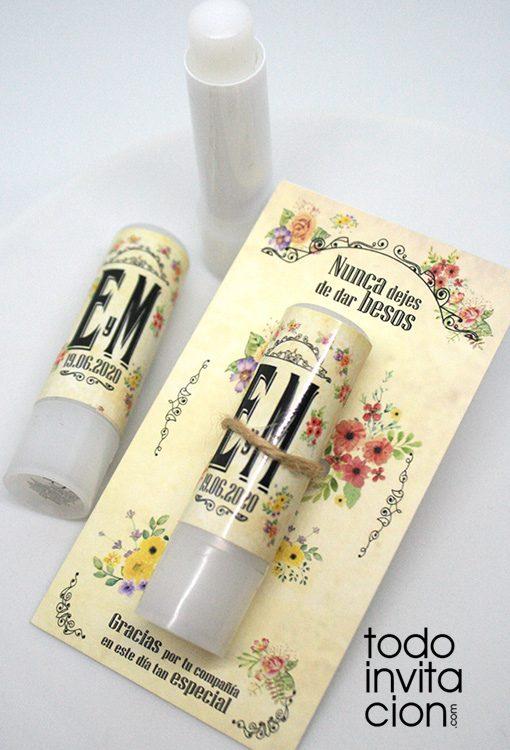 balsamo labial para bodas vintage
