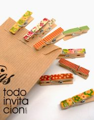 mini pinzas de madera estampadas para regalos