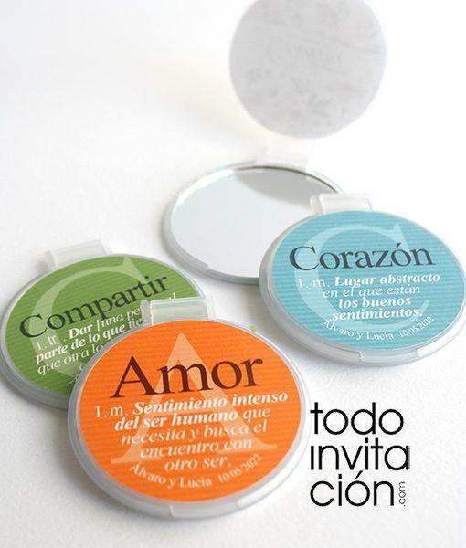 espejos personalizados originales para bodas palabras