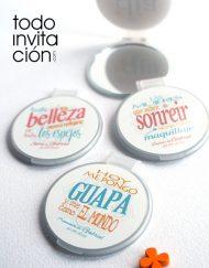 espejos con tapa frases personalizados boda bautizo comunion