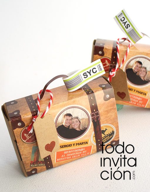 invitacion de boda original vinage
