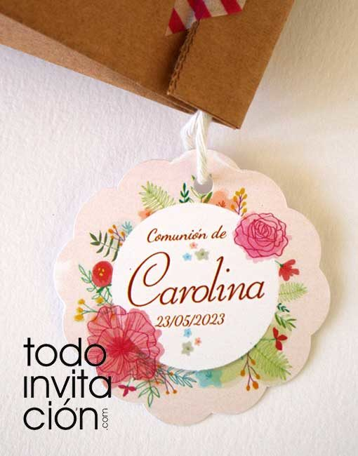 etiquetas personalizadas regalos y detalles boda comunion bautizo