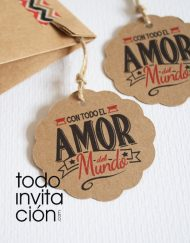 etiquetas de kraft. redondas para detalles de boda comunion bautizo gracias