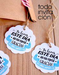 etiquetas redondas blanco detalles invitados de boda