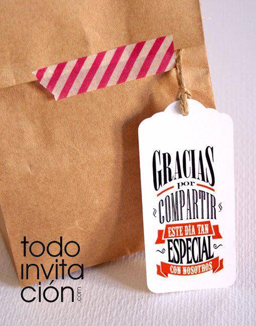 etiquetas de agradecimeinto para regalos de boda