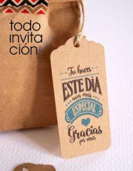 etiquetas kraft para regalos de boda